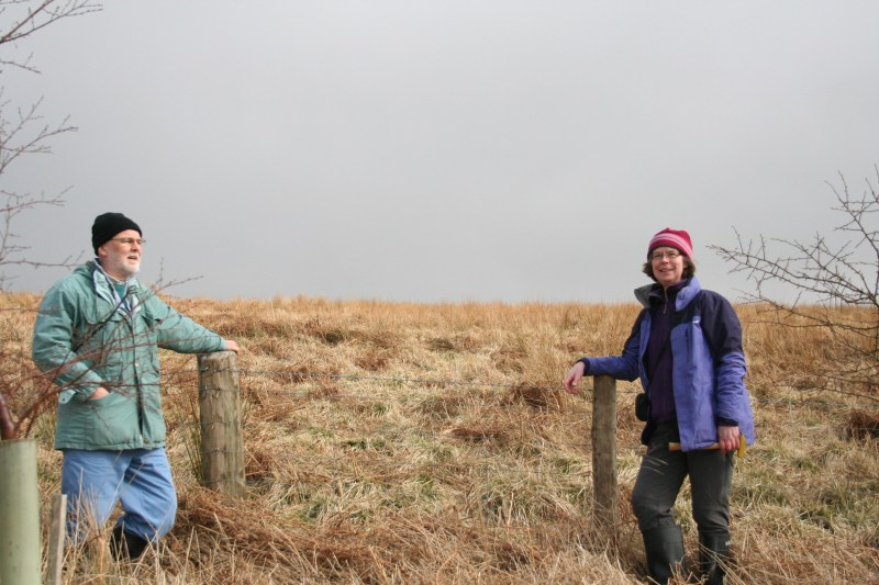 Tim Smithson and Janet Sherwin at Whitrope Burn